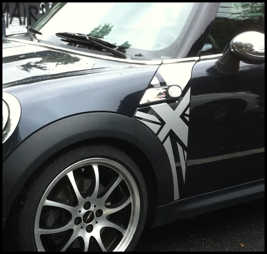 Décor ailes union jack mini cooper phase 2